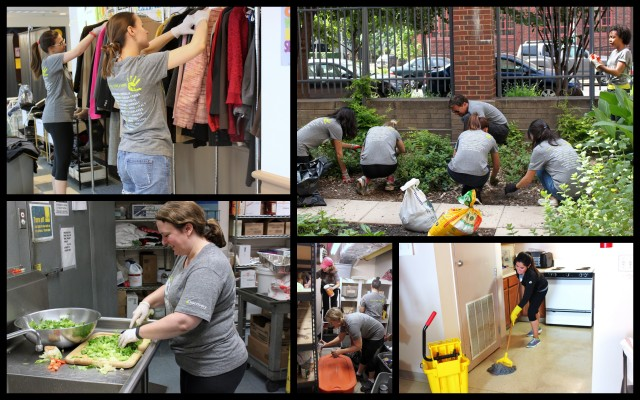 Huge thanks to Discovery for sending nearly 50 volunteers to help our community with...a little bit of everything! Weeding, cleaning, organizing, cooking--you name it--they are doing it. So grateful to spend this beautiful Friday with them and so very appreciative of their enthusiasm and support.
